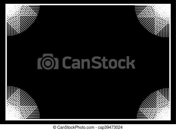 white frame background - csp39473024