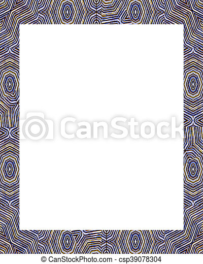 White frame background with ornate decorated borders. White frame ...