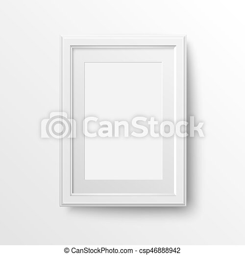 White Frame For Photos A3 And A4 Vertical Blank Picture Frame With