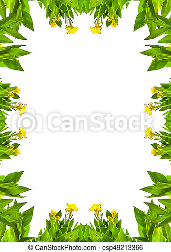 white frame with nature borders white frame background with nature decorated design borders https www canstockphoto com white frame with nature borders 49213366 html