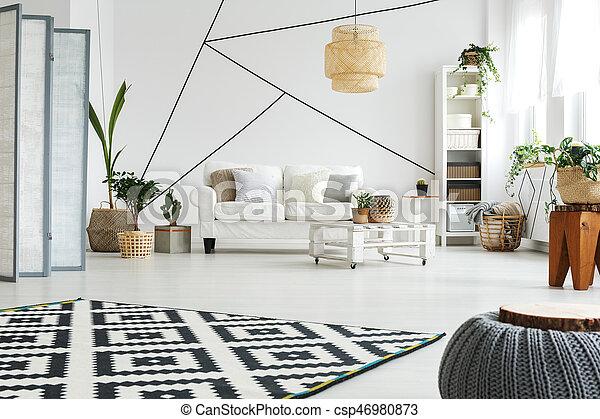 White furniture in room - csp46980873