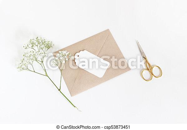 paper spray gypsophila - baby's breath - flower with stamen | 320x450