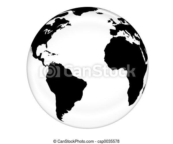 White Glass Globe - csp0035578