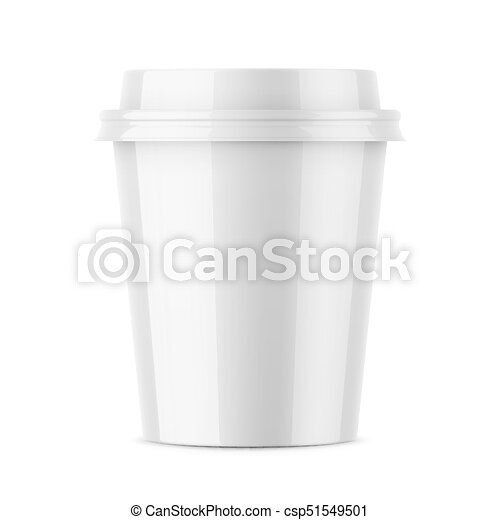 White Glossy Coffee Cup Template