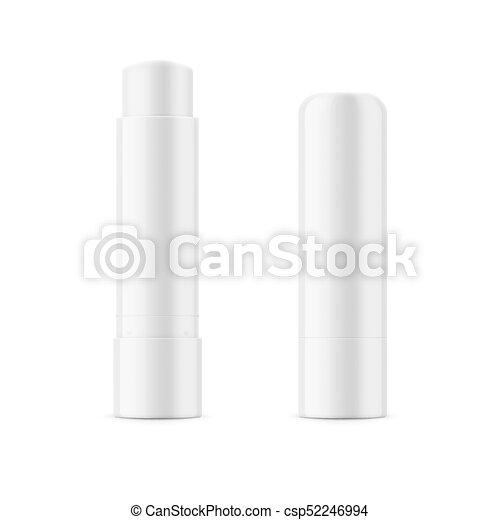 White glossy lip balm stick