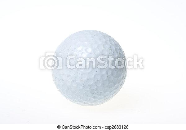 White golf ball - csp2683126