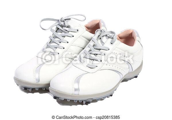 White golf shoes - csp20815385