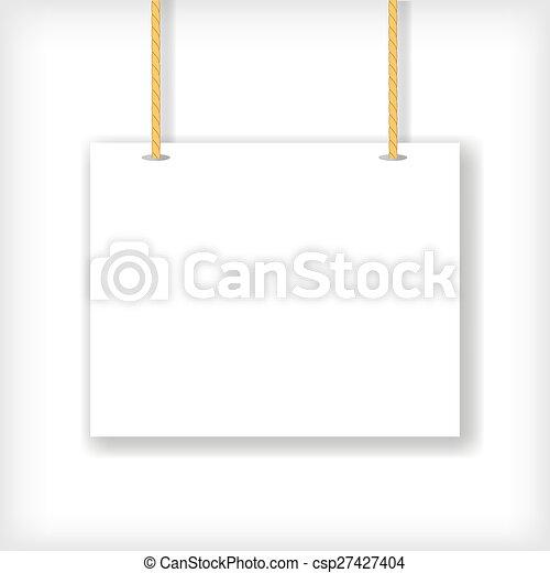 White Handing Sign - csp27427404