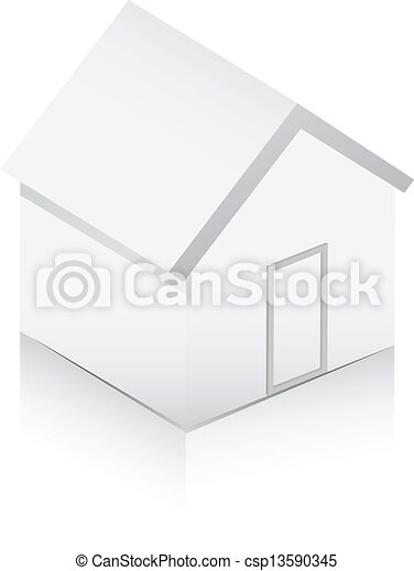 White home 3d - csp13590345