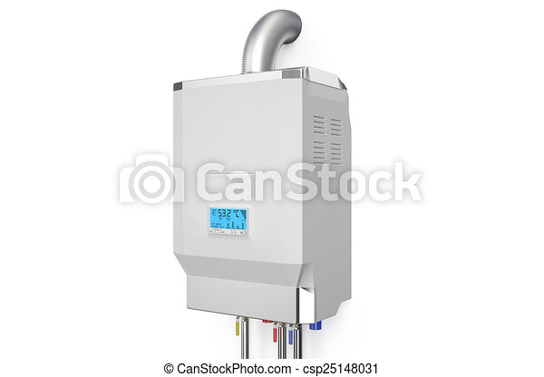 White home gas-fired boiler,  water heater - csp25148031