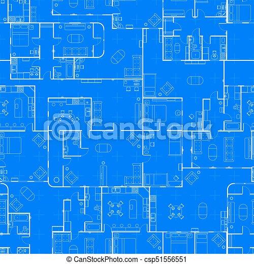 White house floor plan with interior on construction clipart white house floor plan with interior on construction blueprint scheme seamless pattern csp51556551 malvernweather Gallery