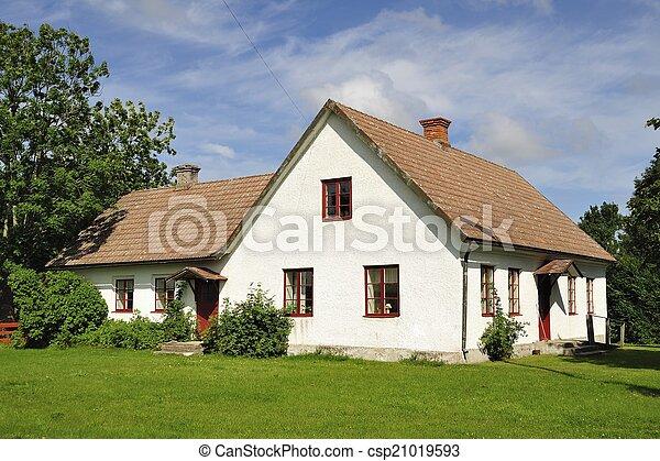 White houses and garden - csp21019593
