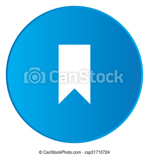 White Icon Isolated on a Blue Button - Banner - csp31710724