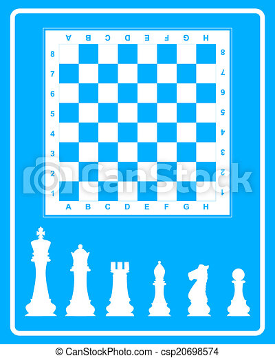 White icon of chess - csp20698574