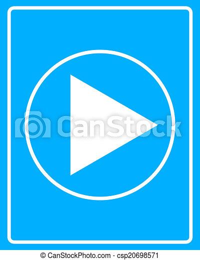 white icon start - csp20698571