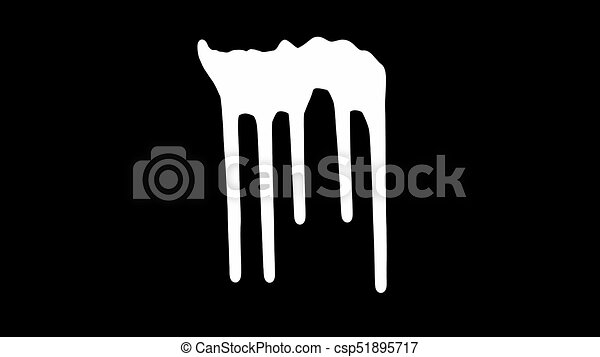 White Ink Dripping Over Black Screen Background White Ink Dripping