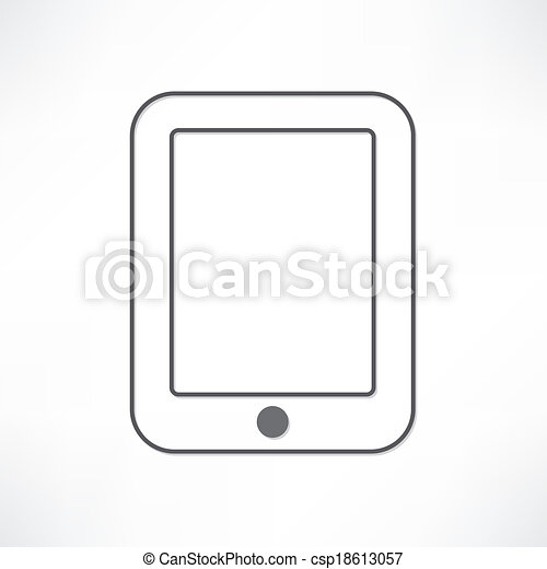 White ipad clipart vector - Search Illustration, Drawings ...