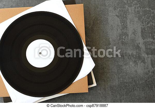 white label vinyl records music background - csp87918887