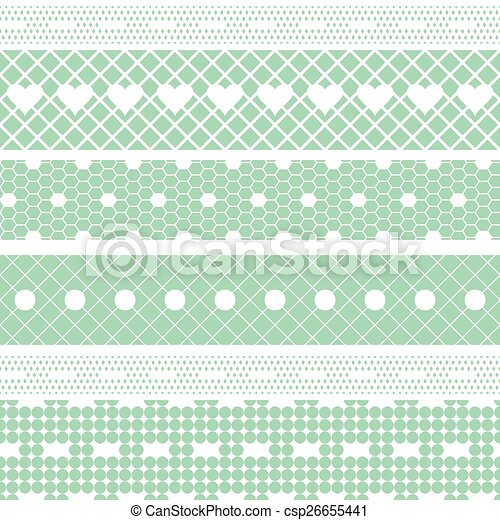 White Lace Ribbons Vector Fabric