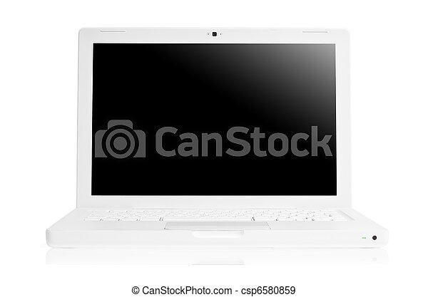 White laptop - csp6580859
