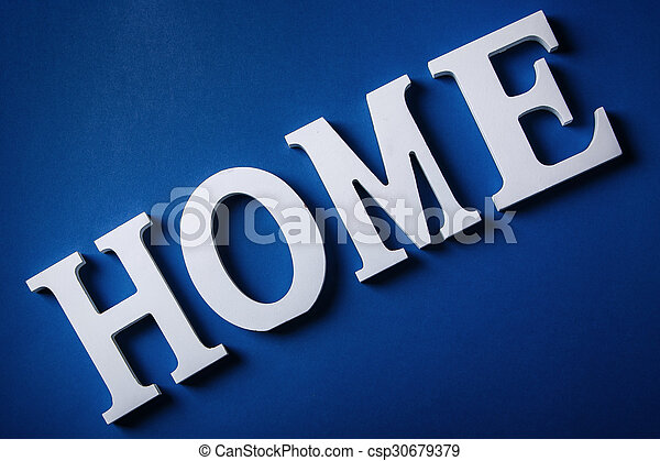 White letters with word HOME - csp30679379
