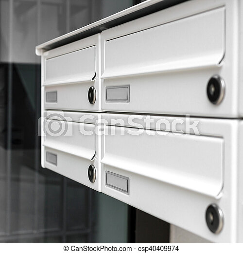 White mail boxes