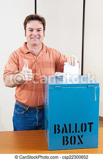 White Male Voter - csp22300652