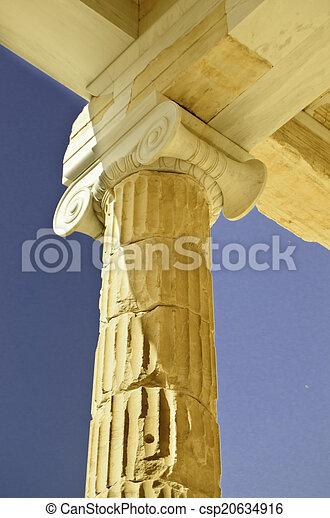 White marble column - csp20634916
