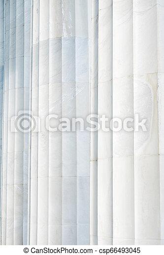 White Marble Columns - csp66493045