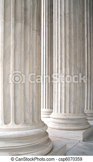 White Marble Columns - csp6070359