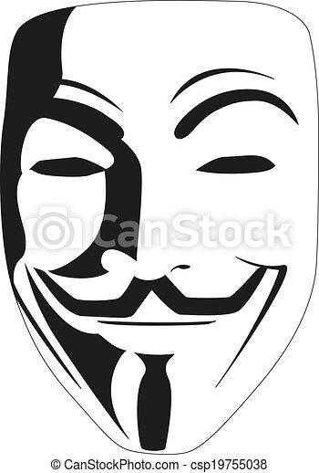 White mask anonymous v...V For Vendetta Mask Vector