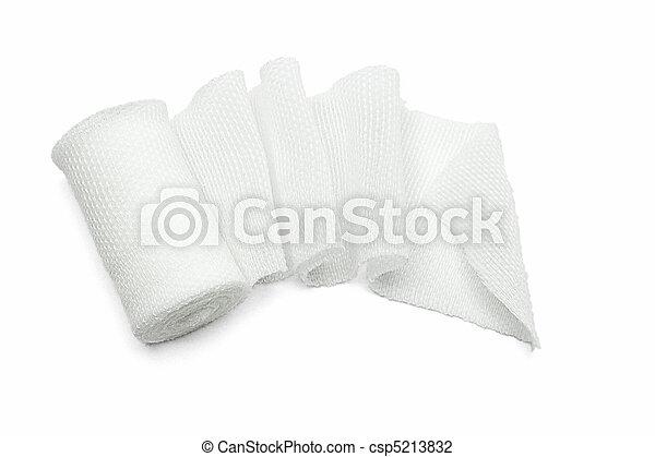 White medical gauze bandage - csp5213832