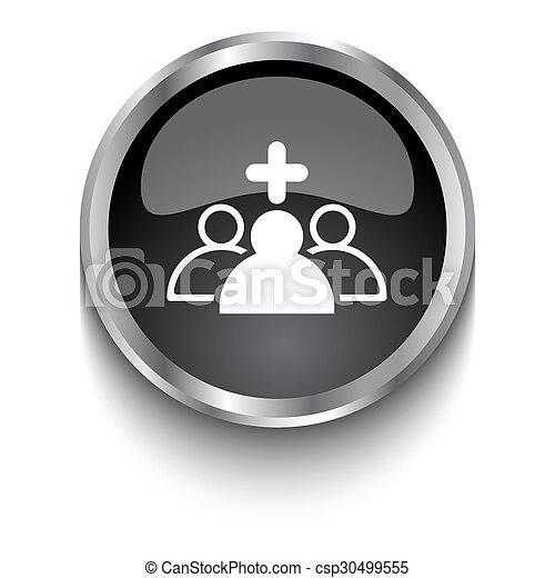 White Medical Staff Symbol On Black Glossy Web Button