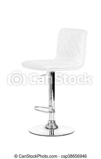 Astounding White Modern Bar Chair Isolated Over White Background Squirreltailoven Fun Painted Chair Ideas Images Squirreltailovenorg