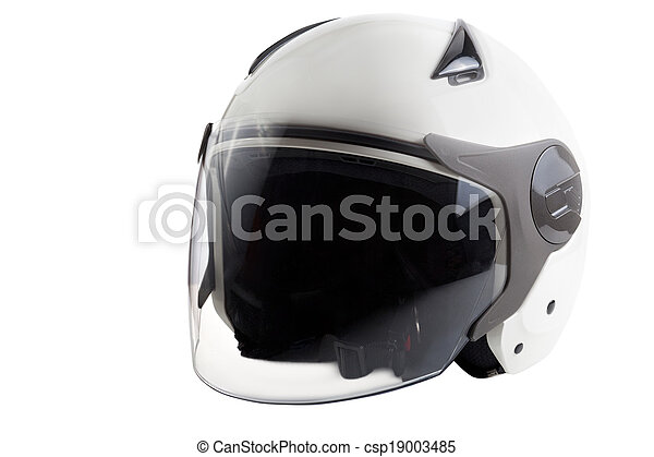 White modern scooter helmet - csp19003485