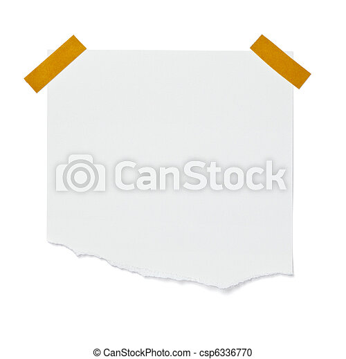 white note paper message label business - csp6336770