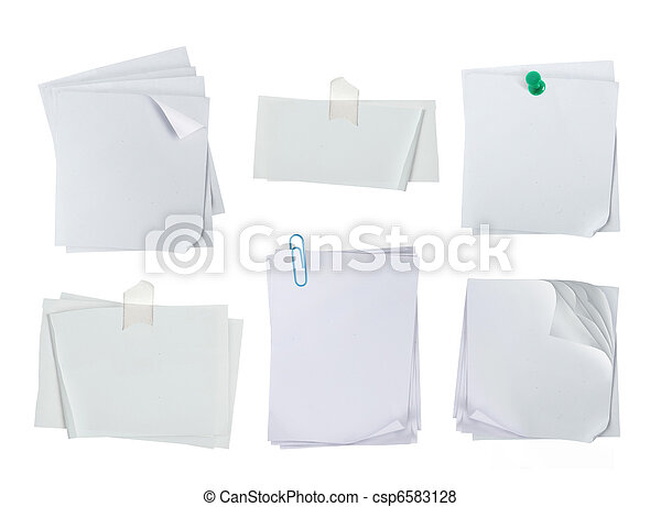 white note paper - csp6583128