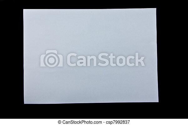 white on black background - csp7992837