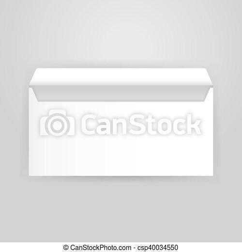 White Open Envelope Mockup Vector Illustration Of Blank Design For Business Promotion Brand Identity