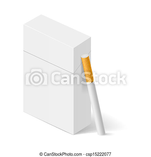 White Pack of cigarettes - csp15222077