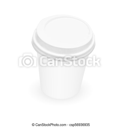 white paper coffee cup template eps10 vector