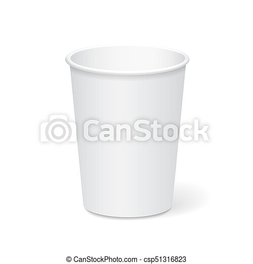 White Paper Cup Template For Coffee Tea To Take Away 3d Illustration