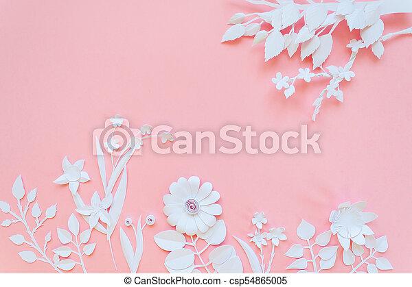 White paper flowers wallpaper spring summer background floral white paper flowers wallpaper spring summer background floral design elements csp54865005 mightylinksfo