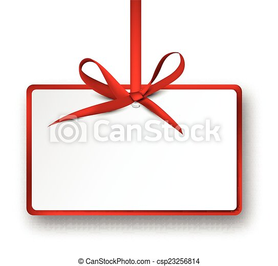white paper gift card with red satin bow christmas vector clip rh canstockphoto com gift card clipart black and white gift card clipart graphics