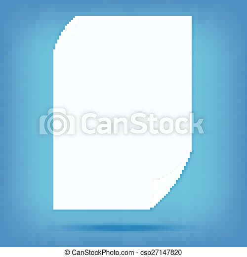 white paper note blank isolated vector - csp27147820