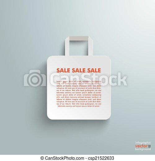 White Paper Shopping Bag - csp21522633
