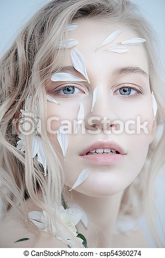 White Petals On Face