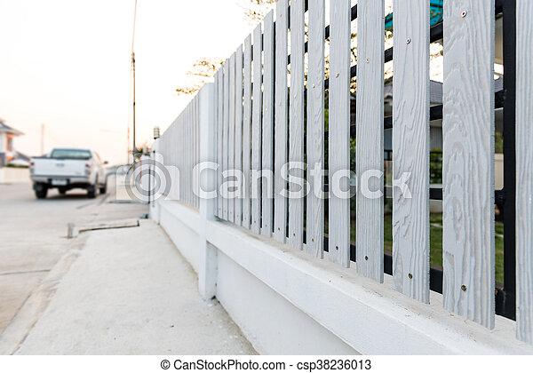 White picket fence - csp38236013