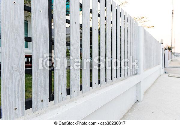 White picket fence - csp38236017