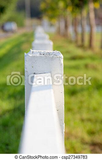 White picket fence - csp27349783